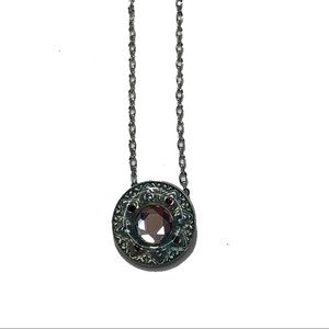 Lia sophia requiem necklace purple blue silver